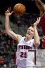 Dec 30, 2012; Auburn Hills, MI, USA; Detroit Pistons small forward Kyle Singler (25) during the fourth quarter against the Milwaukee Bucks at The Palace. Pistons won 96-94. Mandatory Credit: Tim Fuller-USA TODAY Sports