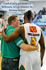 Using a bit of friendly humour to acknowledge the great contributions to the NBL and the Melbourne Tigers of (now) ex-coach Trevor Glesson, and ex-import point guard Corey Homicide Williams. - Trevor Gleeson & Corey Williams conduct their 'love-in' - Cairns NBL pre-season tournament; Tropical North Queensland, Australia; August 2008.