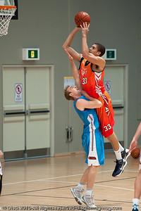 "Brendan Teys ""Dee's"" - Pre-Season NBL International Basketball: Gold Coast Blaze v Anyang KT & G Kites - Korea; Logan City, Queensland, Australia; 2010."