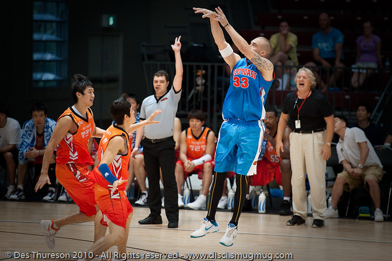 Classic James Harvey - Pre-Season NBL International Basketball: Gold Coast Blaze v Anyang KT & G Kites - Korea; Logan City, Queensland, Australia; 2010.