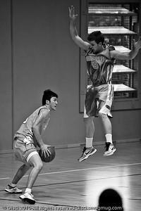 """Going Up"" - Pre-Season NBL International Basketball: Gold Coast Blaze v Anyang KT & G Kites - Korea; Logan City, Queensland, Australia; 2010. (Lightroom Preset: Stark Raging Black Curve.)"