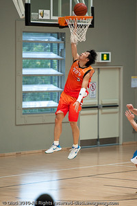 The Anyang KT & G Kites score on the break - Pre-Season NBL International Basketball: Gold Coast Blaze v KT & K Kites - Korea; Logan City, Queensland, Australia; 2010.