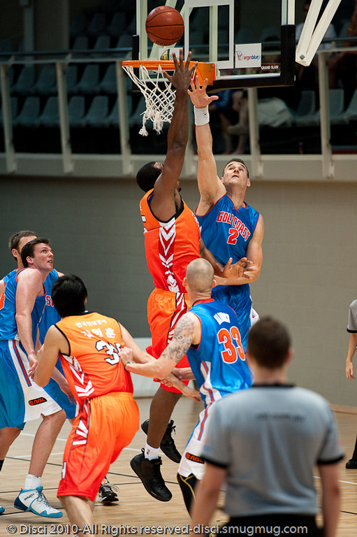 Pre-Season NBL International Basketball: Gold Coast Blaze v Anyang KT & G Kites - Korea; Logan City, Queensland, Australia; 2010.
