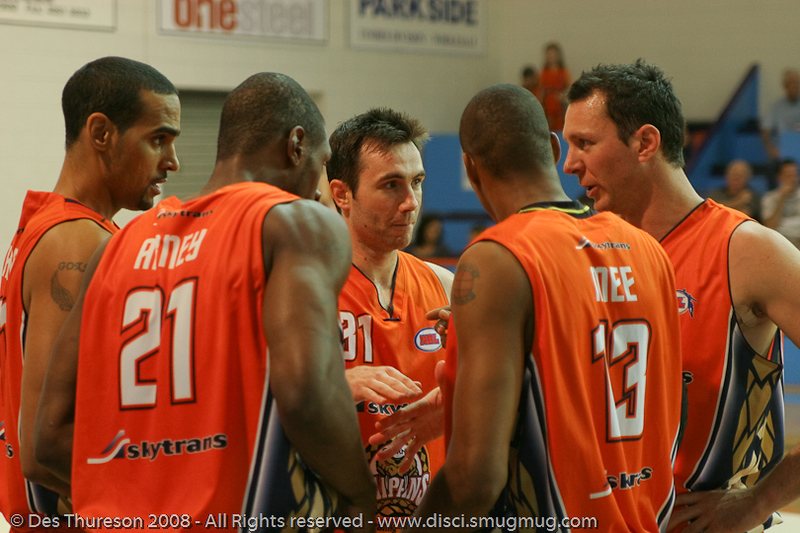 The Cairns Starting Five - Dave Thomas, Larry Abney, Stephen Black, Darnell Mee, Martin Cattalini - Cairns NBL pre-season basketball tournament; Tropical North Queensland, Australia; August 2008.