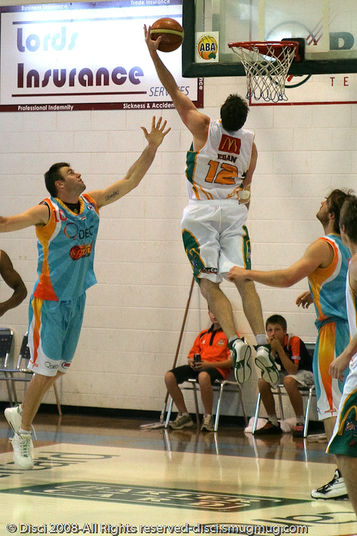 Daniel Egan elevates - Cairns NBL pre-season basketball tournament; Tropical North Queensland, Australia; August 2008.