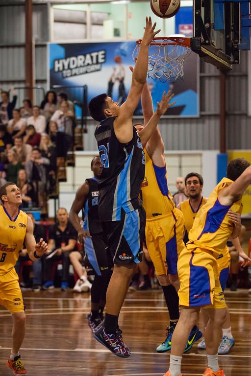 "Tai Wynyard - Adelaide 36ers v New Zealand Breakers - 2014 NBL Blitz Basketball, NAB Stadium, Auchenflower, Brisbane, Qld, AUS. Day 1. Photos by Des Thureson - <a href=""http://disci.smugmug.com"">http://disci.smugmug.com</a>."