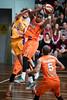 "Kevin White, Torrey Craig - Cairns Taipans v Sydney Kings - 2014 NBL Blitz Basketball, NAB Stadium, Auchenflower, Brisbane, Qld, AUS. Day 3, Camera 1. Photos by Des Thureson - <a href=""http://disci.smugmug.com"">http://disci.smugmug.com</a>."