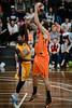 """Cam Tragardh, Kendrick Perry - Cairns Taipans v Sydney Kings - 2014 NBL Blitz Basketball, NAB Stadium, Auchenflower, Brisbane, Qld, AUS. Day 3, Camera 1. Photos by Des Thureson - <a href=""""http://disci.smugmug.com"""">http://disci.smugmug.com</a>."""