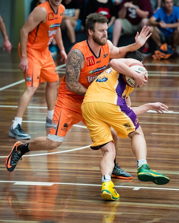 "Cody Ellis, Cam Tragardh - Cairns Taipans v Sydney Kings - 2014 NBL Blitz Basketball, NAB Stadium, Auchenflower, Brisbane, Qld, AUS. Day 3, Camera 1. Photos by Des Thureson - <a href=""http://disci.smugmug.com"">http://disci.smugmug.com</a>."