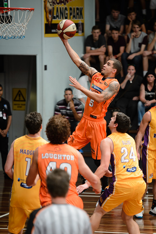 "Scott Wilbekin - Cairns Taipans v Sydney Kings - 2014 NBL Blitz Basketball, NAB Stadium, Auchenflower, Brisbane, Qld, AUS. Day 3, Camera 1. Photos by Des Thureson - <a href=""http://disci.smugmug.com"">http://disci.smugmug.com</a>."