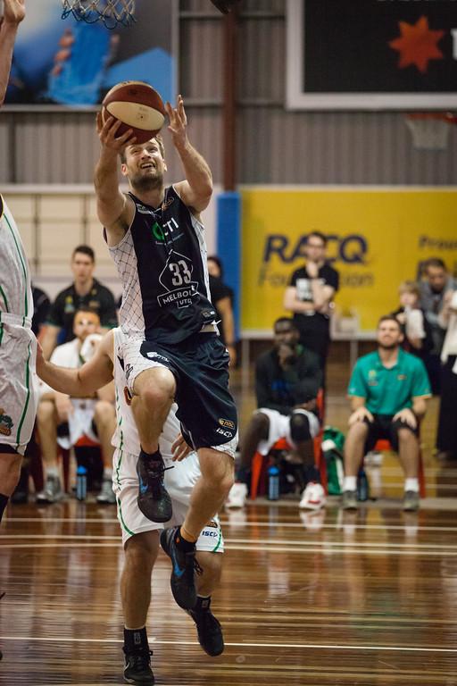 "Mark Worthington - Melbourne United v Townsville Crocs - 2014 NBL Blitz Basketball, NAB Stadium, Auchenflower, Brisbane, Qld, AUS. Day 1. Photos by Des Thureson - <a href=""http://disci.smugmug.com"">http://disci.smugmug.com</a>."