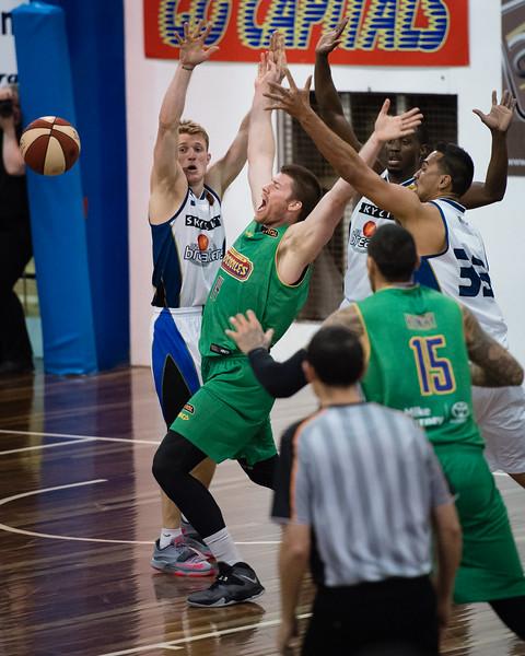 "Brian Conklin - Townsville Crocs v New Zealand Breakers - 2014 NBL Blitz Basketball, NAB Stadium, Auchenflower, Brisbane, Qld, AUS. Day 2. Photos by Des Thureson - <a href=""http://disci.smugmug.com"">http://disci.smugmug.com</a>."
