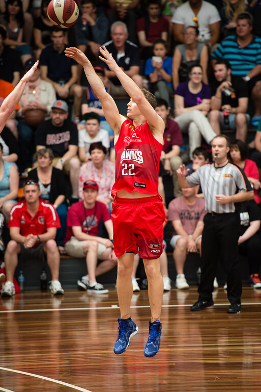 "Tim Coenraad - Perth Wildcats v Wollongong Hawks - 2014 NBL Blitz Basketball, NAB Stadium, Auchenflower, Brisbane, Qld, AUS. Day 3, Camera 1. Photos by Des Thureson - <a href=""http://disci.smugmug.com"">http://disci.smugmug.com</a>."