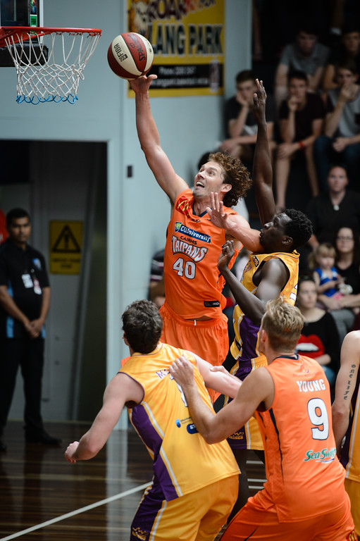 "Alex Loughton - Cairns Taipans v Sydney Kings - 2014 NBL Blitz Basketball, NAB Stadium, Auchenflower, Brisbane, Qld, AUS. Day 3, Camera 1. Photos by Des Thureson - <a href=""http://disci.smugmug.com"">http://disci.smugmug.com</a>."