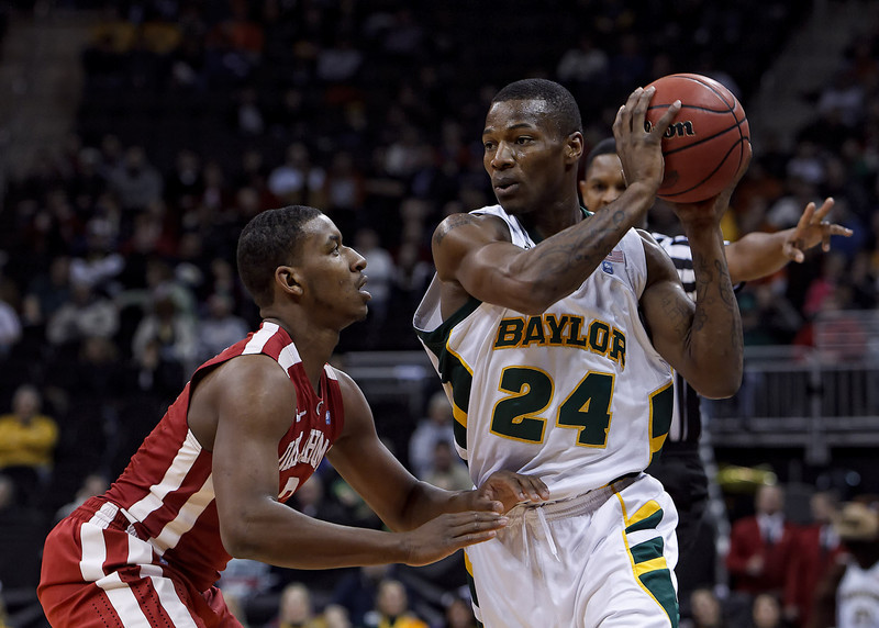 March 9, 2011: Oklahoma Sooners guard Steven Pledger (2) defends Baylor Bears guard LaceDarius Dunn (24) during the first round of the Phillips 66 Big 12 Men's Basketball Championship.  The Oklahoma Sooners defeated the Baylor Bears 84-67 at Sprint Center in Kansas City, Missouri.