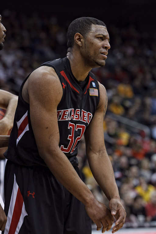 March 9, 2011: Texas Tech Red Raiders forward Mike Singletary (32) looks dejected after being called for a foul during the first round of the Phillips 66 Big 12 Men's Basketball Championship.  The Missouri Tigers led the Texas Tech Red Raiders 44-48 at the half at Sprint Center in Kansas City, Missouri.