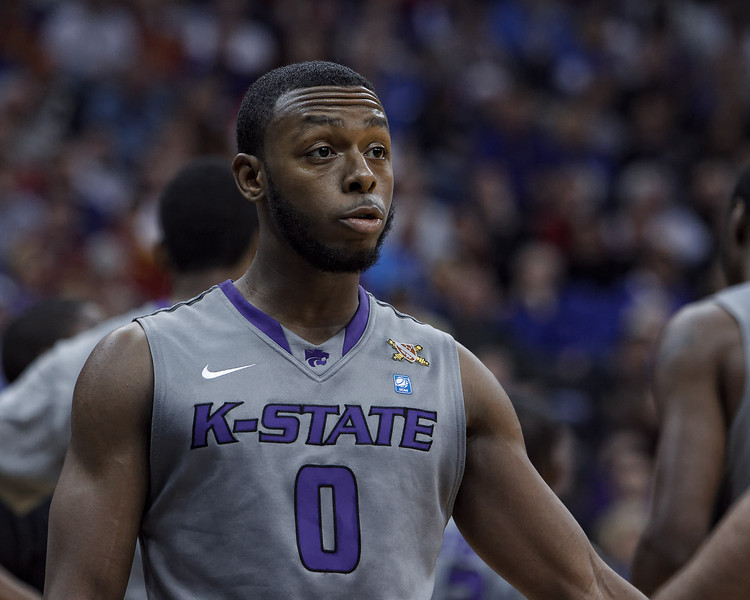 March 10, 2011: Kansas State Wildcats guard Jacob Pullen (0) during the quarterfinals of the Phillips 66 Big 12 Men's Basketball Championship.  The Kansas State Wildcats led the Colorado Buffaloes 37-39 at the half at Sprint Center in Kansas City, Missouri.