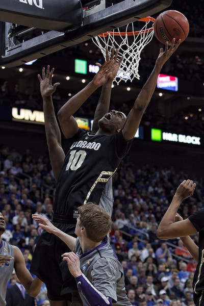 March 10, 2011: Colorado Buffaloes guard Alec Burks (10) goes up for a shot in traffic during the quarterfinals of the Phillips 66 Big 12 Men's Basketball Championship.  The Kansas State Wildcats led the Colorado Buffaloes 37-39 at the half at Sprint Center in Kansas City, Missouri.
