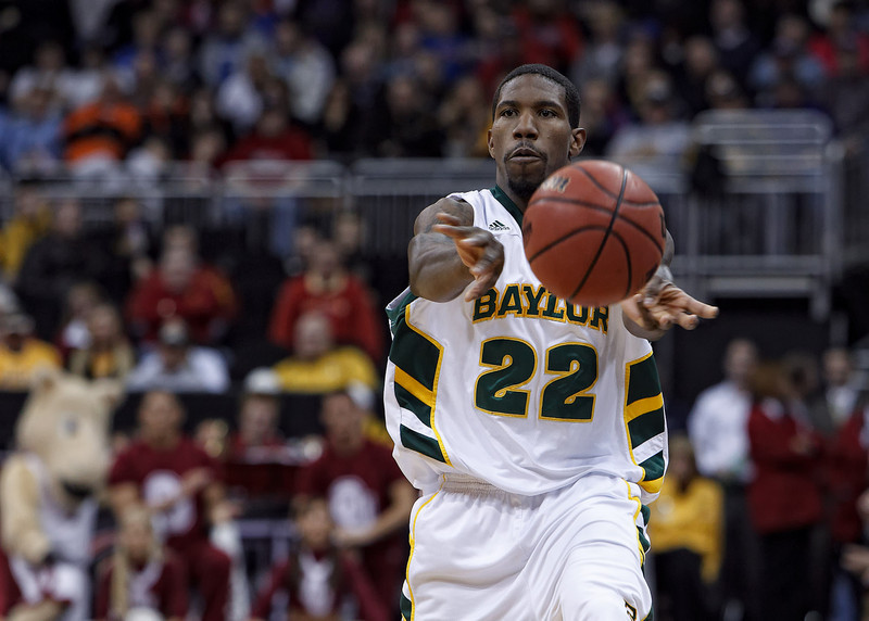 March 9, 2011: Baylor Bears guard A.J. Walton (22) passes the ball during the first round of the Phillips 66 Big 12 Men's Basketball Championship.  The Oklahoma Sooners defeated the Baylor Bears 84-67 at Sprint Center in Kansas City, Missouri.