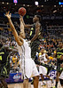March 10, 2012: Baylor Bears forward Quincy Miller (30) goes up for a shot in front of Missouri Tigers center Steve Moore (32) during the finals of the Phillips 66 Big 12 Men's Basketball Championship.  The Missouri Tigers led the Baylor Bears 43-37 at the half at Sprint Center in Kansas City, Missouri.