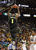 March 10, 2012: Baylor Bears forward Perry Jones III (1) slam dunks during the finals of the Phillips 66 Big 12 Men's Basketball Championship.  The Missouri Tigers defeated the Baylor Bears 90-75 at Sprint Center in Kansas City, Missouri.