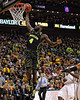 March 10, 2012: Baylor Bears forward Quincy Acy (4) slam dunks during the finals of the Phillips 66 Big 12 Men's Basketball Championship.  The Missouri Tigers defeated the Baylor Bears 90-75 at Sprint Center in Kansas City, Missouri.