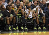 March 10, 2012: Baylor players show disappointment on the bench during the finals of the Phillips 66 Big 12 Men's Basketball Championship.  The Missouri Tigers defeated the Baylor Bears 90-75 at Sprint Center in Kansas City, Missouri.