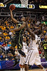 March 10, 2012: Baylor Bears forward Perry Jones III (1) lays one in during the finals of the Phillips 66 Big 12 Men's Basketball Championship.  The Missouri Tigers led the Baylor Bears 43-37 at the half at Sprint Center in Kansas City, Missouri.