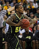 March 10, 2012: Baylor Bears guard Pierre Jackson (55) inbounds the ball during the finals of the Phillips 66 Big 12 Men's Basketball Championship.  The Missouri Tigers defeated the Baylor Bears 90-75 at Sprint Center in Kansas City, Missouri.
