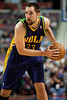 Feb 11, 2013; Auburn Hills, MI, USA; New Orleans Hornets power forward Ryan Anderson (33) during the fourth quarter against the Detroit Pistons at The Palace. Hornets won 105-86. Mandatory Credit: Tim Fuller-USA TODAY Sports