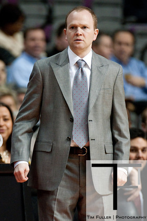 Feb 11, 2013; Auburn Hills, MI, USA; Detroit Pistons head coach Lawrence Frank during the game against the New Orleans Hornets at The Palace. Mandatory Credit: Tim Fuller-USA TODAY Sports