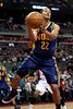 Feb 11, 2013; Auburn Hills, MI, USA; New Orleans Hornets point guard Brian Roberts (22) saves the ball from going out of bounds during the fourth quarter against the Detroit Pistons at The Palace. Hornets won 105-86. Mandatory Credit: Tim Fuller-USA TODAY Sports