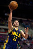 Feb 11, 2013; Auburn Hills, MI, USA; New Orleans Hornets point guard Greivis Vasquez (21) goes to the basket during the third quarter against the Detroit Pistons at The Palace. Hornets won 105-86. Mandatory Credit: Tim Fuller-USA TODAY Sports