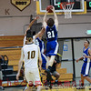 Moanalua's Josh Kure scores the first points of the game.