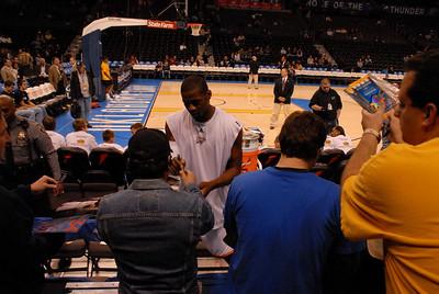 Oklahoma City Thunder vs Atlanta Hawks Sunday Nov 9, 2008