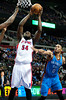Nov 12, 2012; Auburn Hills, MI, USA; Detroit Pistons power forward Jason Maxiell (54) goes to the basket during the fourth quarter against the Oklahoma City Thunder at The Palace. Thunder won 92-90. Mandatory Credit: Tim Fuller-US PRESSWIRE
