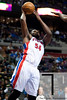 Nov 12, 2012; Auburn Hills, MI, USA; Detroit Pistons power forward Jason Maxiell (54) goes to the basket during the third quarter against the Oklahoma City Thunder at The Palace. Thunder won 92-90. Mandatory Credit: Tim Fuller-US PRESSWIRE