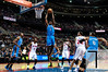 Nov 12, 2012; Auburn Hills, MI, USA; Oklahoma City Thunder power forward Serge Ibaka (9) slam dunks the ball during the second quarter against the Detroit Pistons at The Palace. Mandatory Credit: Tim Fuller-US PRESSWIRE