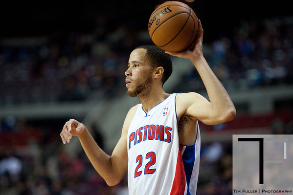 Nov 12, 2012; Auburn Hills, MI, USA; Detroit Pistons small forward Tayshaun Prince (22) during the fourth quarter against the Oklahoma City Thunder at The Palace. Thunder won 92-90. Mandatory Credit: Tim Fuller-US PRESSWIRE