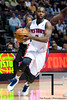 Nov 12, 2012; Auburn Hills, MI, USA; Detroit Pistons point guard Rodney Stuckey (3) goes to the basket during the fourth quarter against the Oklahoma City Thunder at The Palace. Thunder won 92-90. Mandatory Credit: Tim Fuller-US PRESSWIRE