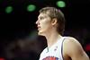 Nov 12, 2012; Auburn Hills, MI, USA; Detroit Pistons small forward Kyle Singler (25) during the fourth quarter against the Oklahoma City Thunder at The Palace. Thunder won 92-90. Mandatory Credit: Tim Fuller-US PRESSWIRE