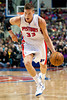 Nov 12, 2012; Auburn Hills, MI, USA; Detroit Pistons power forward Jonas Jerebko (33) during the fourth quarter against the Oklahoma City Thunder at The Palace. Thunder won 92-90. Mandatory Credit: Tim Fuller-US PRESSWIRE