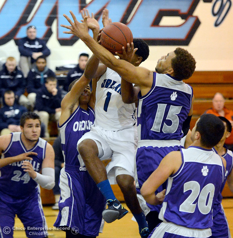 . during Orland vs Oroville boys varsity basketball in Durham, Calif. Thursday Dec. 5, 2013.(Bill Husa/Staff Photo)