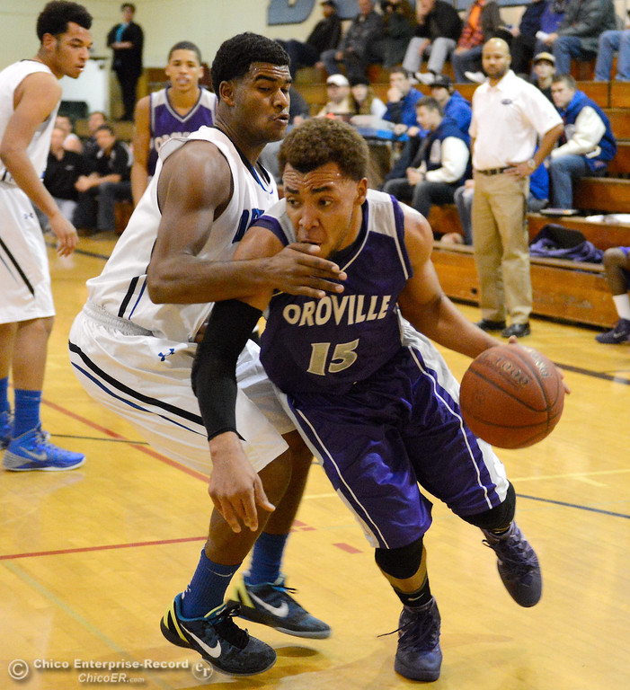 . during Orland vs Oroville boys varsity basketball in Durham, Calif. Thursday Dec. 5, 2013.(Bill Husa/Staff Photo)(Bill Husa/Staff Photo)