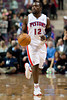 Nov 28, 2012; Auburn Hills, MI, USA; Detroit Pistons point guard Will Bynum (12) during the fourth quarter against the Phoenix Suns at The Palace. Detroit won 117-77. Mandatory Credit: Tim Fuller-USA TODAY Sports