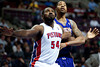 Nov 28, 2012; Auburn Hills, MI, USA; Detroit Pistons power forward Jason Maxiell (54) boxes out Phoenix Suns power forward Markieff Morris (11) during the second quarter at The Palace. Mandatory Credit: Tim Fuller-USA TODAY Sports