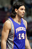Nov 28, 2012; Auburn Hills, MI, USA; Phoenix Suns power forward Luis Scola (14) during the third quarter against the Detroit Pistons at The Palace. Detroit won 117-77. Mandatory Credit: Tim Fuller-USA TODAY Sports