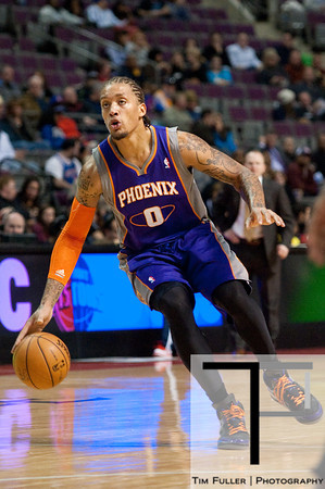 Nov 28, 2012; Auburn Hills, MI, USA; Phoenix Suns small forward Michael Beasley (0) during the second quarter against the Detroit Pistons at The Palace. Mandatory Credit: Tim Fuller-USA TODAY Sports
