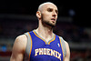 Nov 28, 2012; Auburn Hills, MI, USA; Phoenix Suns center Marcin Gortat (4) during the third quarter against the Detroit Pistons at The Palace. Detroit won 117-77. Mandatory Credit: Tim Fuller-USA TODAY Sports