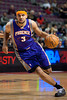 Nov 28, 2012; Auburn Hills, MI, USA; Phoenix Suns shooting guard Jared Dudley (3) drives to the basket during the first quarter against the Detroit Pistons at The Palace. Mandatory Credit: Tim Fuller-USA TODAY Sports